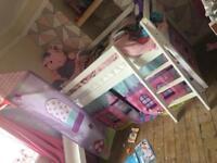 Girls slide bed