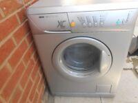 zanusi washing machine in silver