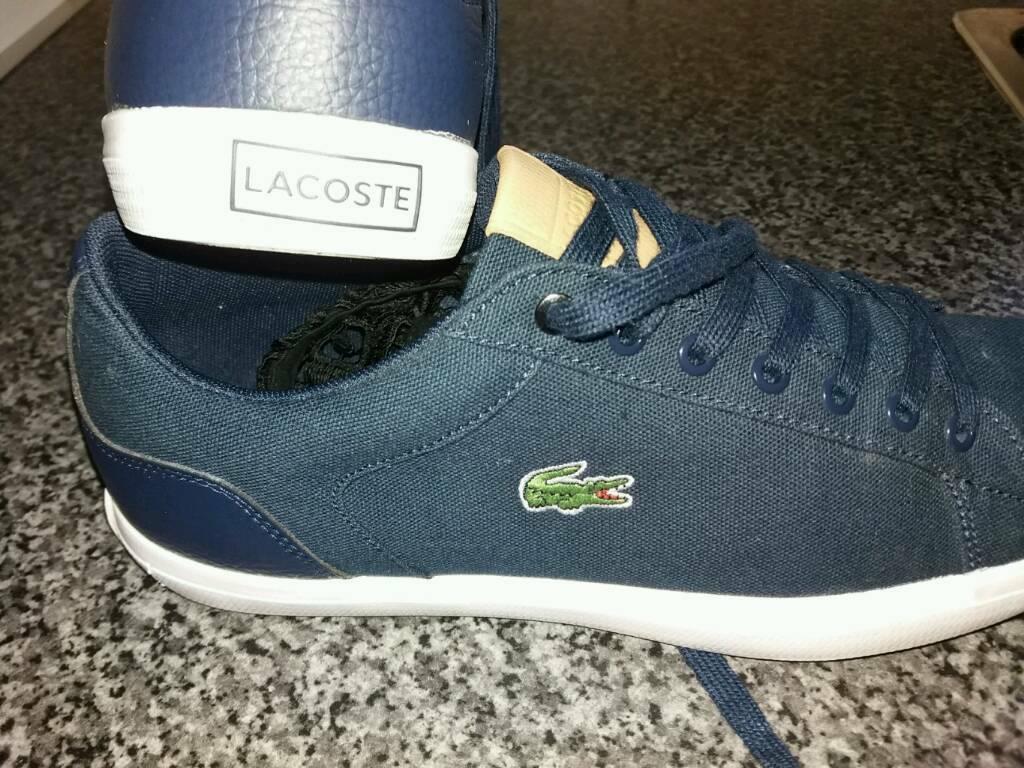 eb0e5a316 Mens Lacoste Trainers Size 8 (super condition worn twice)