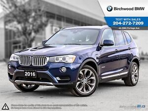 2016 BMW X3 Xdrive28i Not A Rental! Local Car! Premium Package
