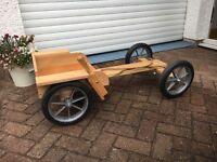 Kids Wooden Go-Kart