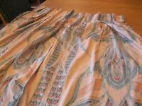Fabulous professionally made lined curtains with triple pleat heading. Top condition