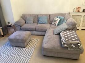 Sofa L shape and ottoman
