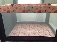 Gorgeous girly travel cot