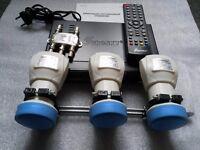 Digital Satellite Receiver Eurosky ES-4050 +3 LNB Multi Feed Holder - 40mm Triple Way Bracket + 3LNB