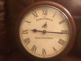 Famous grouse clock and barometer