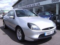 FORD PUMA 16 16V Coupe SILVER, 3 doors, Manual, Petrol, 106390 miles Mot Oct 2016