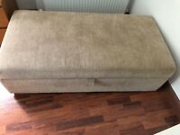 Cream Ottoman with pull out double bed