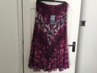 M&S (NEW) PER UNA FULLY LINED SKIRT (SIZE 12)