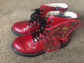 Gorgeous, red, butterfly Lelli Kelly's size 1