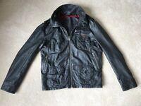 SuperDry Leather Jacket - Large