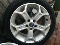 Alloy wheels set of 4, 17s off ford transit connect