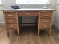 Retro/vintage 1940's oak desk