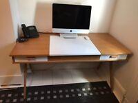 Made Stroller Desk - Oak/White (desk only)