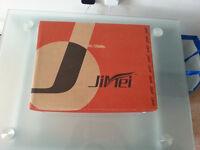 Jimei black open toe high heeled shoes. Size 6/39.