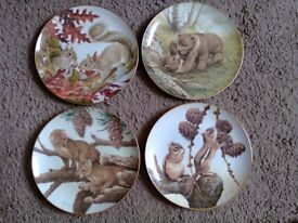 Bradford The Forest Year Collection Plates