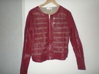 New eco- leather jacket with lace