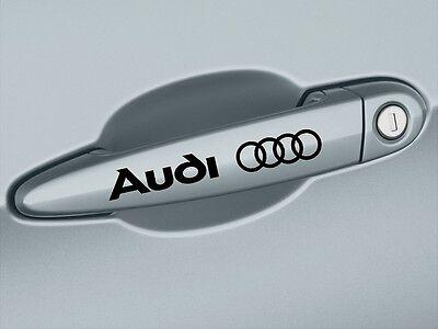 AUDI A3 A4 A6 A8 S4 S5 Q3 Q5 Q7 Door Handle Decal sticker emblem logo BLACK Pair