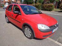 2002 Vauxhall Corsa 1.2 red 5 door