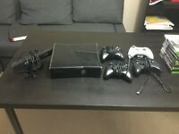Xbox 360 250GB Console + 4 controllers + Kinect Sensor +19 games