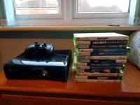 Xbox 360 with 13 games