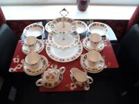 Bone china tea service by Sheriden.