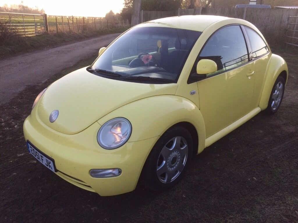 2001 vw volkswagen beetle yellow 2 0 girly project mot cheap to sell quick sale wanted in. Black Bedroom Furniture Sets. Home Design Ideas