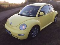 2001 VW volkswagen beetle - yellow 2.0 girly project - MOT Cheap to sell quick sale wanted