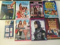 Children's DVDs PG/12, high school musical, Justin Bieber, plus other films, £1- each,