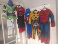 Children's Fancy Dress Outfits Superheroes Spiderman Captain America Buzz Lightyear Transformers