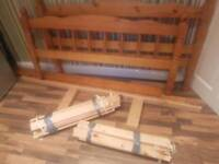 Solid pine double bed frame/ Base