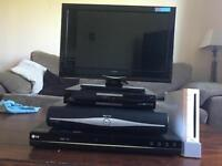 DVD PLAYER, Humax freeview TV player, Sky Box, Wii, TV