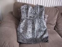 Women's black / silver Lipsy dress. Size 14