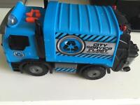 Bin Lorry and various other transport toys