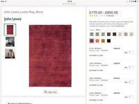 Brand New John Lewis Lustre Rug in Berry