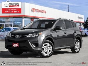 2014 Toyota RAV4 LE Toyota Certified, One Owner, No Accidents...