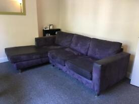 Sofa For Sale! Purple Suede Like Material