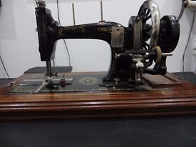 Functional Vintage Sewing Machine + Manual & Spare Parts