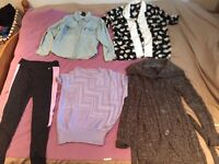 SALE CLOTHES ♡ Variety of tops, knit jumpers, pants, dresses & belt in new condition