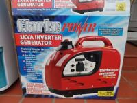 Clarke invertor generator 1000 watts. Ideal for camping or caravanning. Boxed. As new