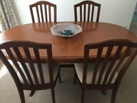 Stag Dining Table &4 chairs