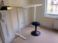 "Standing Desk, adjustable height (Ikea ""SKARSTA"" with ""NILSERIK"" standing support"