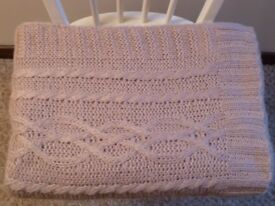 Purple Knitted Throw