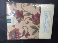 Montgomery curtains - brand new. Curtain pole and hold backs included.