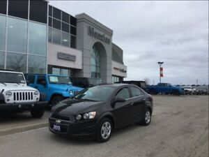 2013 Chevrolet Sonic LT, ONE OWNER, LOW KM'S, Clean Carproof