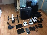 DJI Inspire 1 Pro with the Zenmuse X5RAW camera, plus DJI Osmo Pro handheld gimbal.
