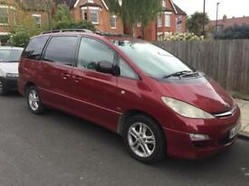 Toyota previa diesel manual 2.0 liter 7 seater T sprit.