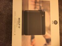 bang and olufsen beolit 17 , brand new , boxed sealed, powerful speaker black