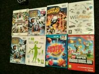 Wii games: Stars Wars Clone War, Wii Fit, Mario Bros, Wii Play, Destroy all humans and Smashbros