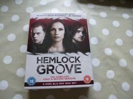 Hemlock Grove BluRay Boxset Series 1 and 2 Still Shrink Wrapped